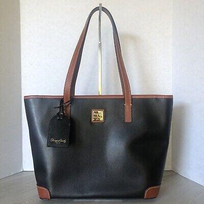 Dooney & Bourke Collins Charleston Shopper Black Leather BCLNS0592