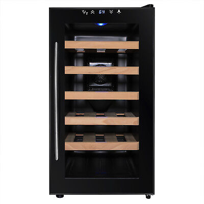 18 Bottles Adjustable Temperature Electric Freestanding Wine Cooler Refrigerator