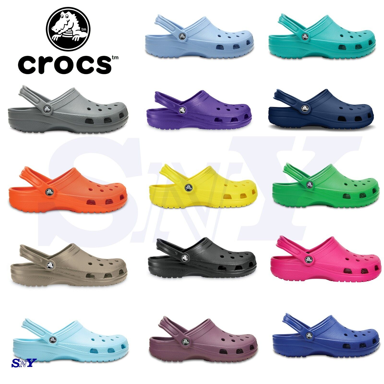 CROCS Classic UNISEX Men's Women's Ultra Light Water-Friendl