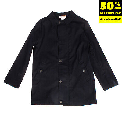 RRP €155 PAOLO PECORA Coat Size 8Y Zipped Details Popper Front Made in Italy