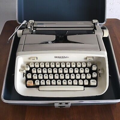 Vintage 1970s Royal Portable Typewriter With Case