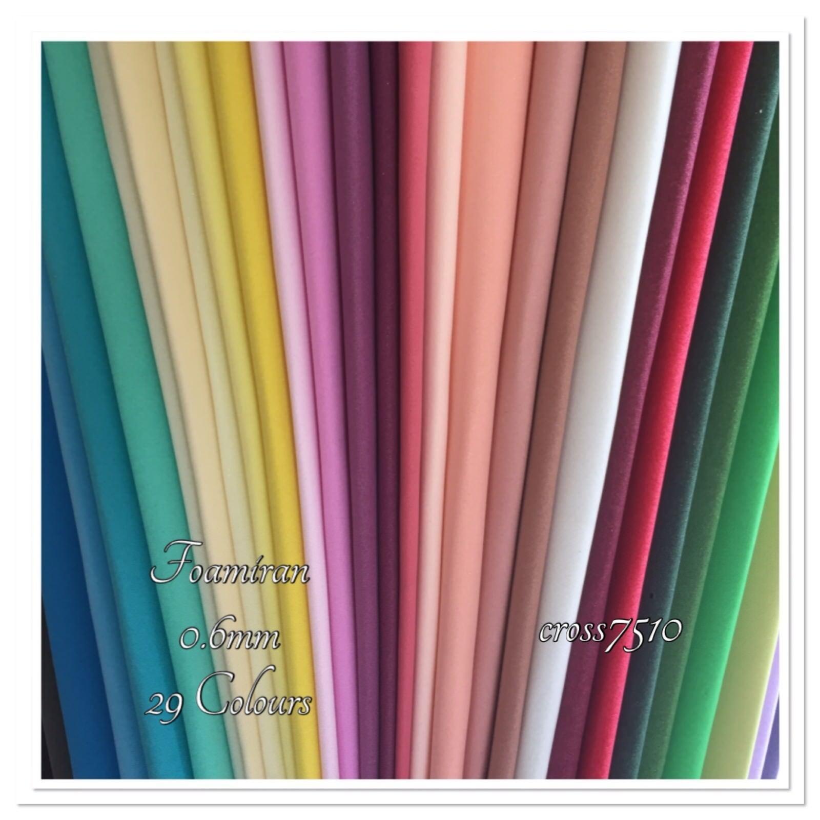 FOAMIRAN Flower Making Foam 0.6mm 33 Colours 30x35cm Sheets