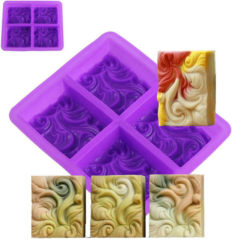 Silicone DIY Soap Box Concrete Molds Tools Baking Cake Moulds