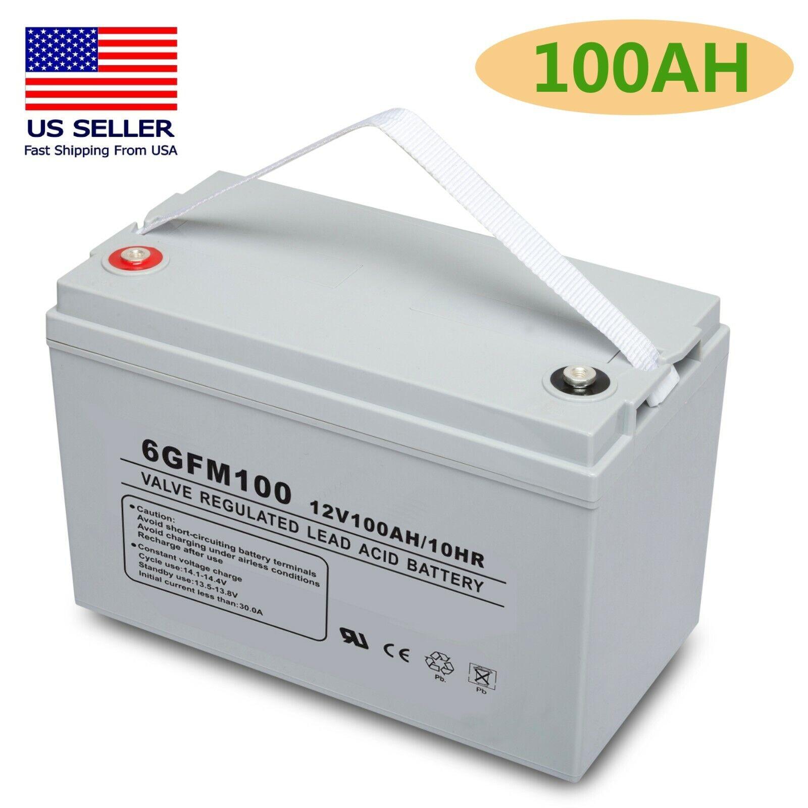 12V 100AH  Sealed AGM Deep Cycle SLA Battery Solar, RV, Off