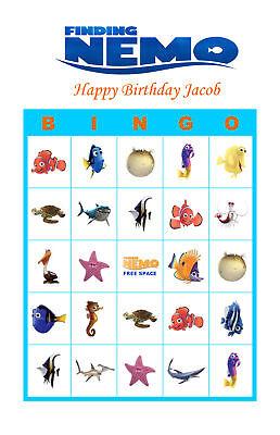 Finding Nemo Birthday Card (Finding Nemo Birthday Party Game Bingo Cards )