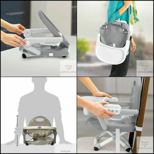 NEW Chicco Pocket Snack  Seat, Grey Booster