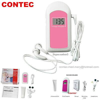 Us Cefdaprenatal Fetal Doppler Listen Baby Heart Beat Monitor Lcdgelearphone