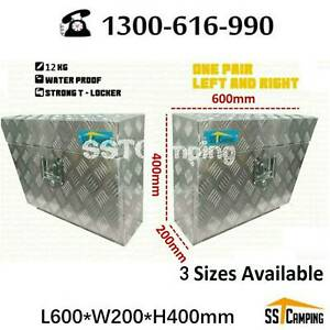 Hot Sales ! Aluminium Under Tray L600*W200*H400 Toolbox Pair