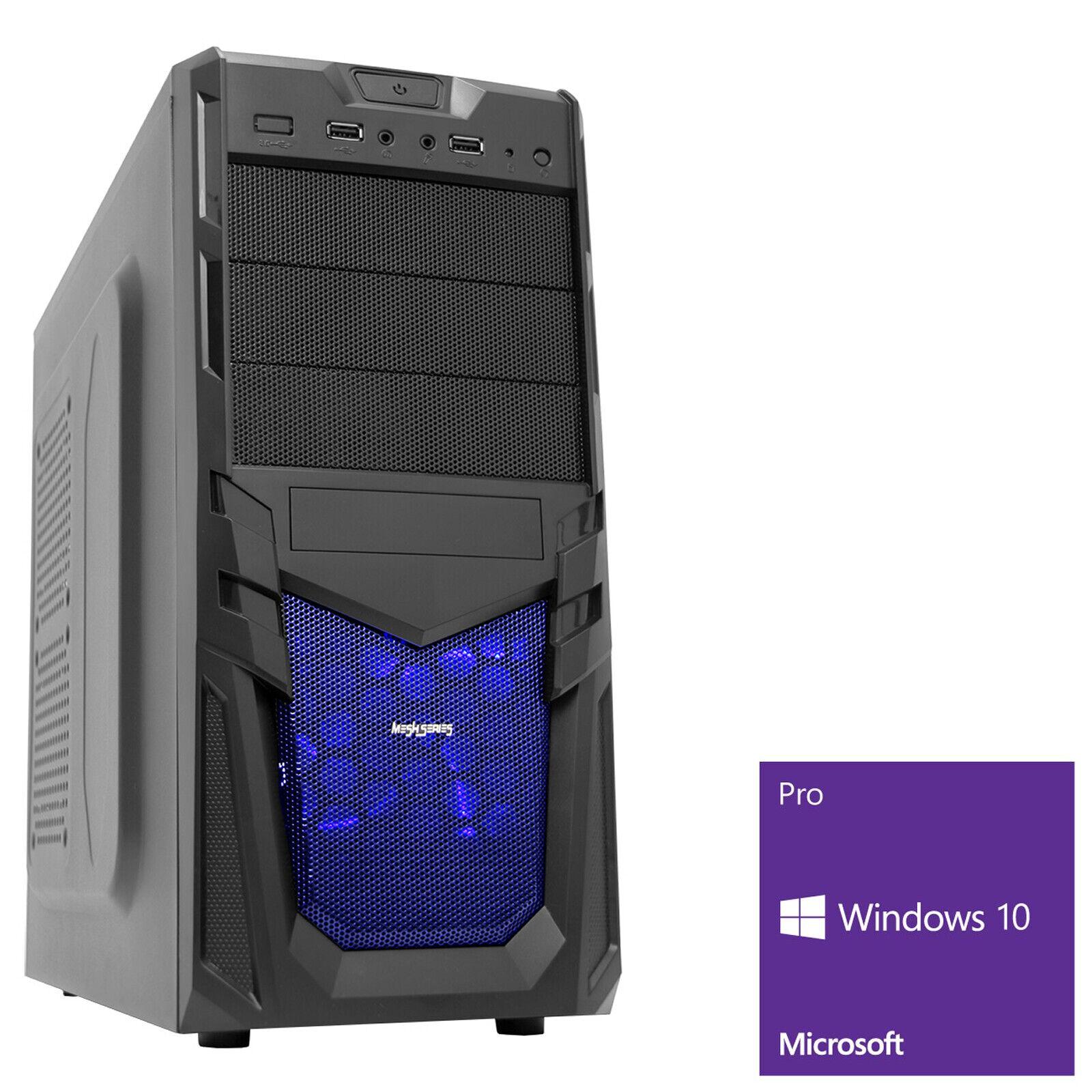 Computer Games - AMD 4.2 Quad Core 16GB 1TB  480GB SSD Desktop Home Gaming PC Computer Windows 10