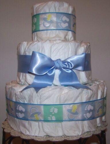 Baby Boy 3 Tier Diaper Cake - Baby Shower