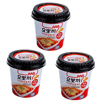 Yopokki Instant Cheese Tteokbokki Rice Cake Cheese Sauce Korean Food 3 PACK