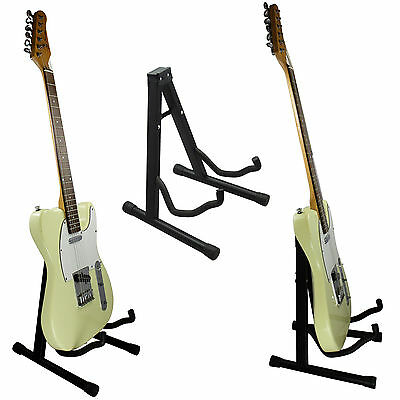Black Foldable ~ A Frame Guitar Stand for Acoustic ~ Electric ~ Classic Guitar