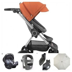 Poussette Stokke SCOOT V3 + coquille Nuna Pipa