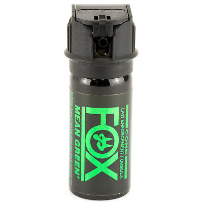 (PS Fox Labs Mean Green Tactical Police 1.5oz Flip-Top Fog Pattern Pepper Spray)