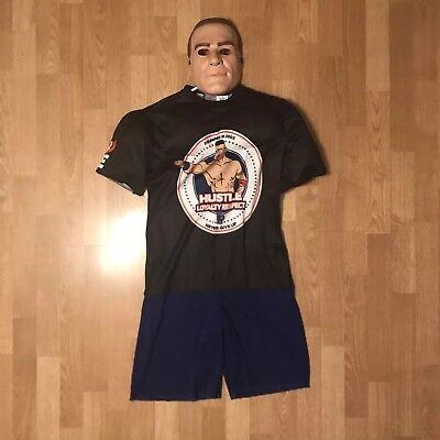 Boys WWE John Cena Muscle Jumpsuit & Mask Halloween Costume- 10/12](Halloween John Cena Costume)