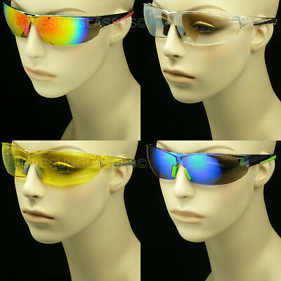 Sunglasses Glasses Clear Lens Men Women Shoot Frame Cycle Safety Ansi Z87 New 1