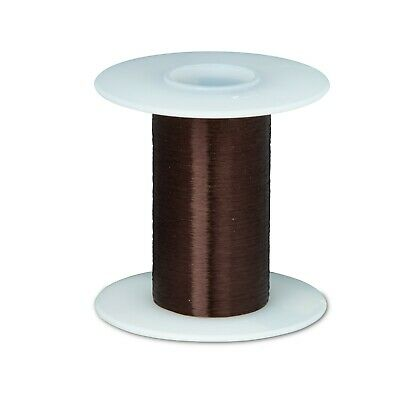 43 Awg Gauge Plain Enamel Copper Magnet Wire 2 Oz 8262 0.0024 105c Brown
