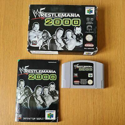 WWF WRESTLEMANIA 2000 NINTENDO 64 N64 PAL GAME BOXED COMPLETE W/MANUAL FREE P&P