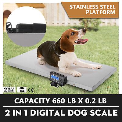 660lb Digital Livestock Vet Scale Hog Pet Dog Sheep 120v Ac Animal Over-load