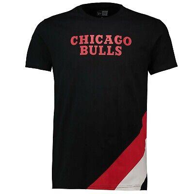 B35 Mens S Chicago Bulls New Era Retro Stripe T-Shirt