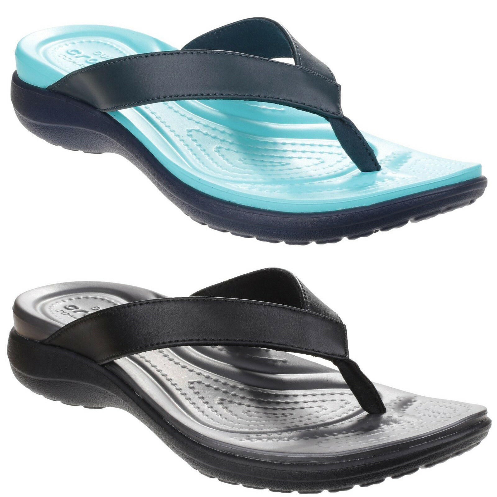 127a5eebbb4 Crocs Capri V Flip Sandals Womens Croslite Foam Footbed Toe Post Flip Flops
