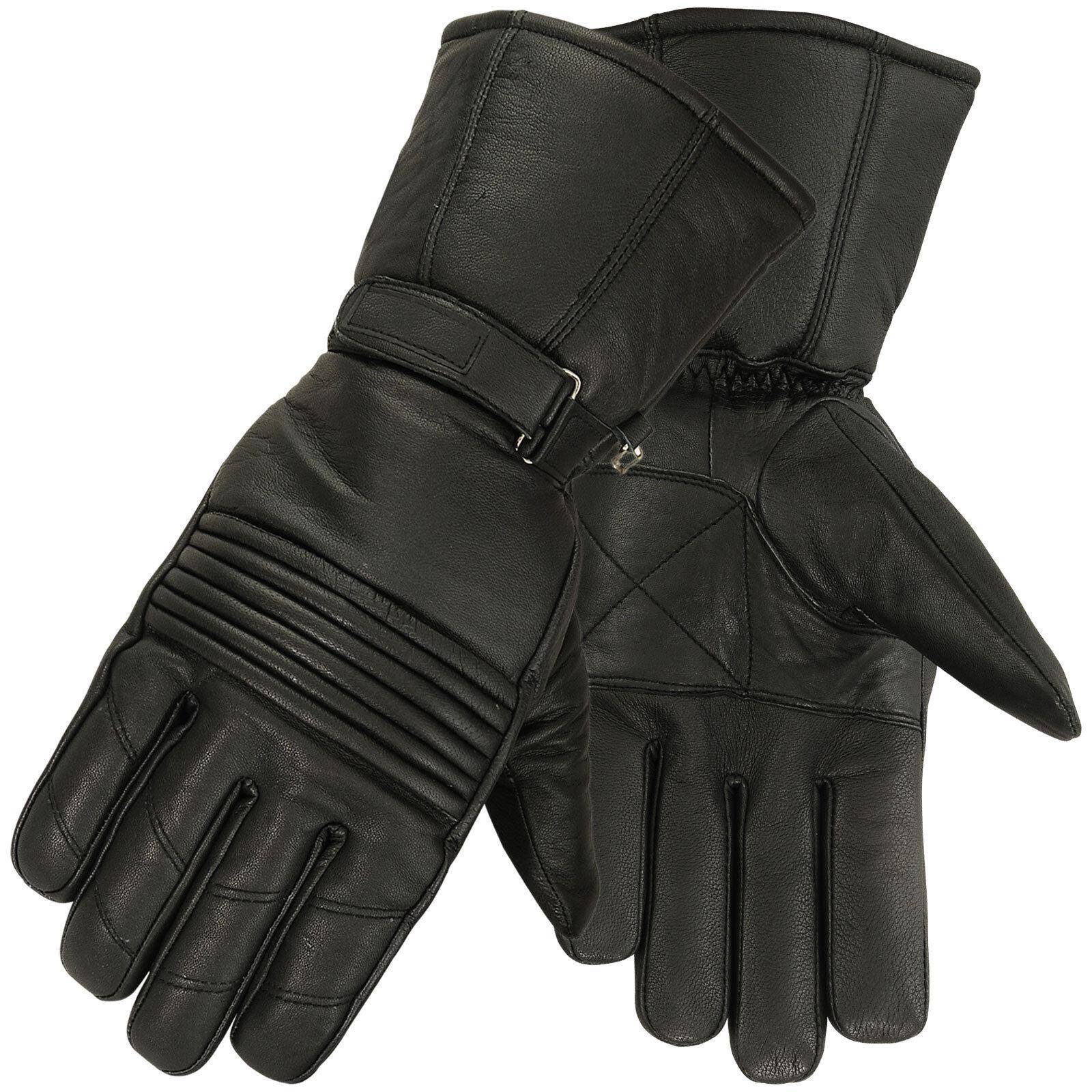 Best motorcycle gloves nz - Winter Leather Motorcycle Gloves Motorbike Waterproof Glove Thermal Black Medium