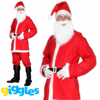 Santa Claus Costume Suit Adult Father Christmas Fancy Dress Mens Xmas Outfit - Santa Outfits For Men