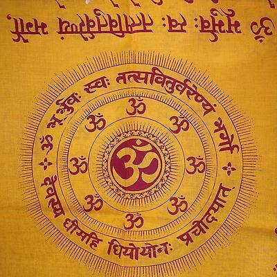 Schal,Tuch,Lunghi,Sarong  Benares-Dekotuch GAYATRI-MANTRA Indien Goa Hippie 1