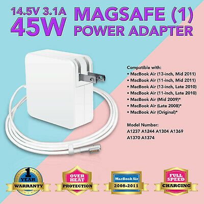 NEW 45W  Adapter Charger Power Cord for Apple MacBook Air A1370 A1374 A1237