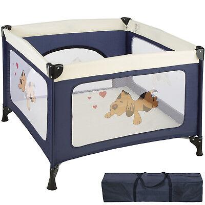 Parque para bebé cuna infantil de viaje portátil altura ajustable azul