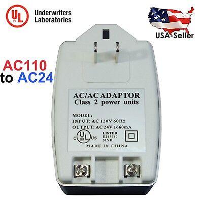 AC 24V 1660mA 40VA Power Transformer Adapter AC110V to AC24V with UL Certified ()
