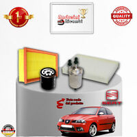 KIT TAGLIANDO 4 FILTRI SEAT IBIZA IV 1.4 16v 55KW 75CV DAL 2002 /> 2009