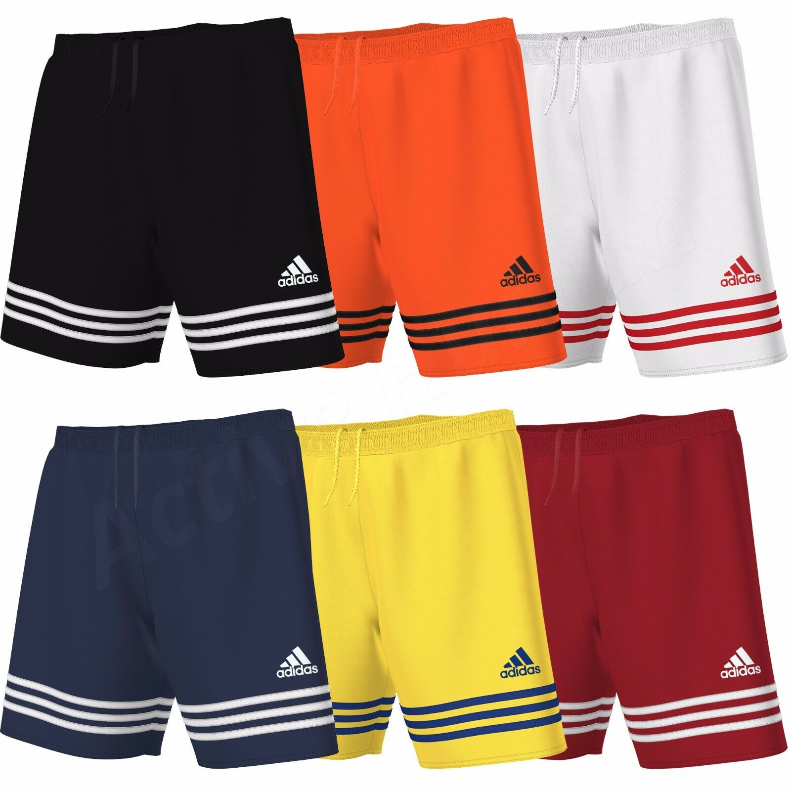 mens adidas shorts entrada climalite sports football gym. Black Bedroom Furniture Sets. Home Design Ideas