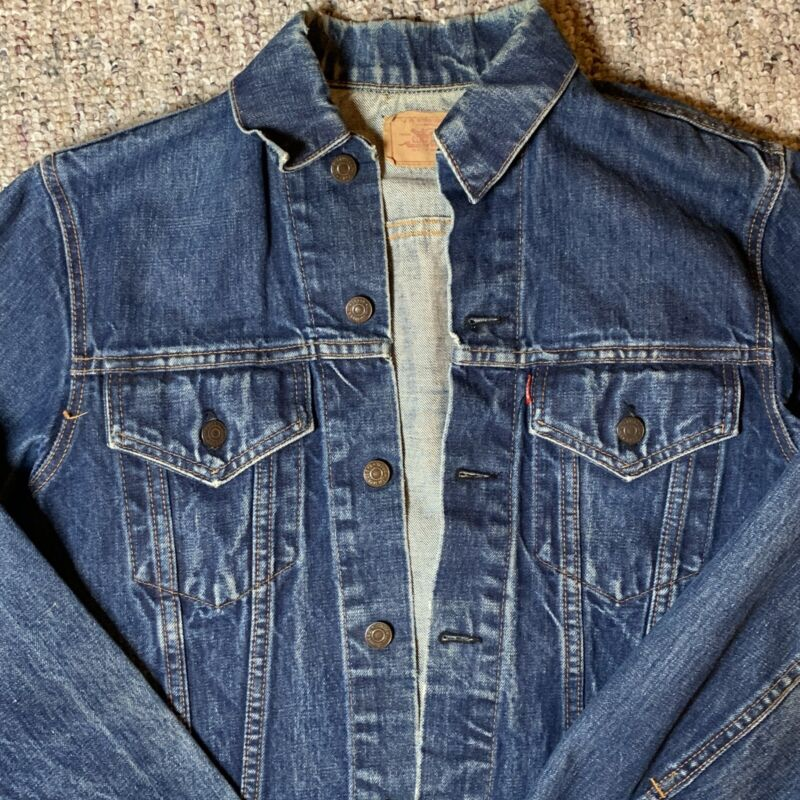 Vintage Levi Type lll Denim Trucker Jacket With Big E 1960's Made In USA
