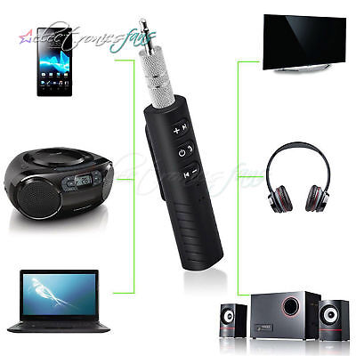 Bluetooth Wireless Handsfree Car Receiver 3.5mm AUX Music Stereo Audio Adapter ()