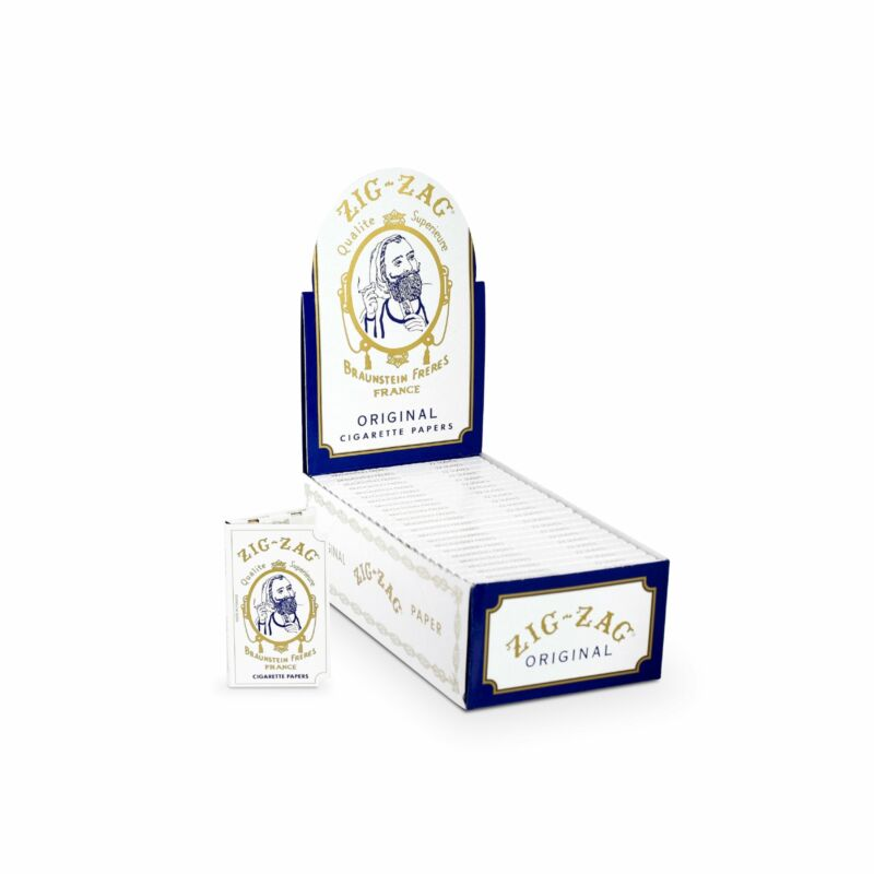 Zig-Zag Rolling Papers Original Single Wide White 24 Booklet Carton