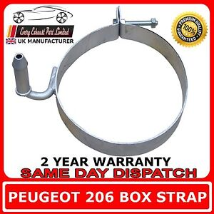 peugeot 206 rear silencer exhaust strap band bracket hanger mount back box ebay. Black Bedroom Furniture Sets. Home Design Ideas