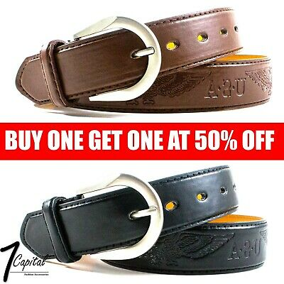 Men's Genuine Leather Metal Buckle Jean Casual Dress Belt Black Brown M L XL Genuine Leather Dress Belt