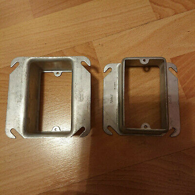 4 Pcs Of 4 Square Box 4x4 Plaster Ring Mud-ring 1-12 Raised Cover 1-device
