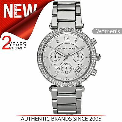 Michael Kors Parker Ladies' Watch MK5353¦Chronograph Silver Dial¦Stainless Strap