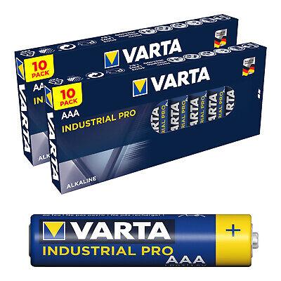 20 x Varta AAA Industrial Micro LR03 Batterie | 1200mAh 1,5V Alkaline|...