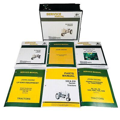 Master Service Parts Manual For John Deere 520 530 Tractor Shop Book Catalog