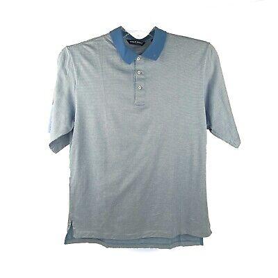 POLO GOLF Ralph Lauren Mens Shirt  L 100% Pima Cotton Blue Short Sleeve Apparel