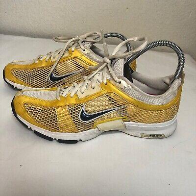 Nike Zoom Trainer Essential Running Women's Yellow Mesh 324514-741 Size 8