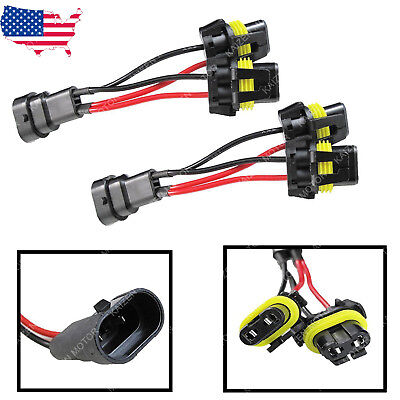 9005 9006 High Beam Splitter Wires For Quad Dual Projector Headlights (High Beam Projector Headlights)
