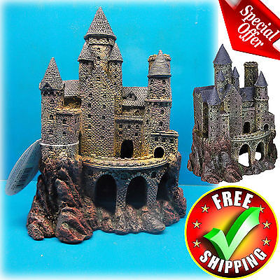 "Aquarium Castle Decoration 10"" Magical Tower Ornament Cave Fish Tank Decorative"