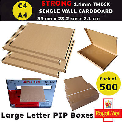 500 x A4 C4 Royal Mail Large Letter Box PIP Postal Shipping Cardboard Boxes Box