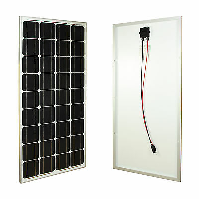100Watt Solarpanel Solarmodul 12V 12 Volt MONOKRISTALLIN 100W TÜV Zertifikat
