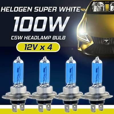 4x H7 100W 8500K Xenon Hid Kit Super White LED Headlight Bulb Lamp Fog Light 12V