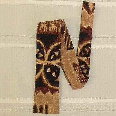 1960s – 70s Men's Ties | Skinny Ties, Slim Ties KANAKA TIE - Men's Neck Tie - VTG 1960's - Made in Hawaii - Brown Tapa Print $20.00 AT vintagedancer.com
